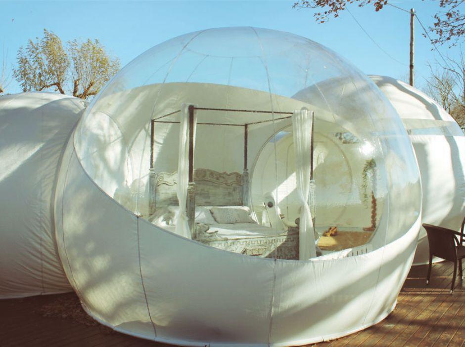Las habitaciones burbuja del Hotel Mil Estrelles son perfectas para un fin de semana de pasión en pareja
